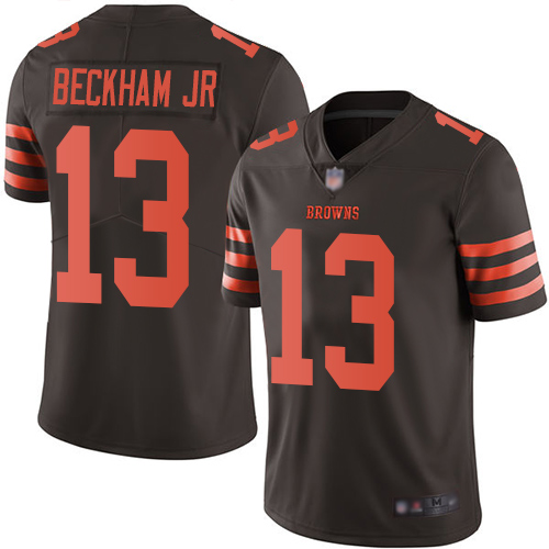 Nike Browns #13 Odell Beckham Jr Brown Youth Stitched NFL Limited Rush Jersey