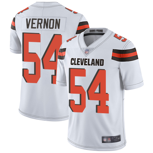 Nike Browns #54 Olivier Vernon White Youth Stitched NFL Vapor Untouchable Limited Jersey