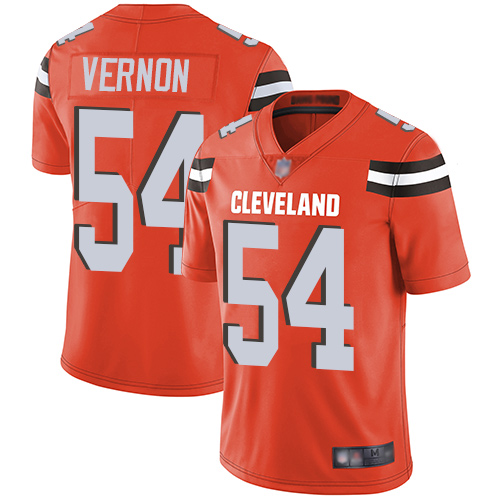Nike Browns #54 Olivier Vernon Orange Alternate Youth Stitched NFL Vapor Untouchable Limited Jersey