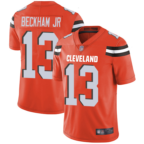 Nike Browns #13 Odell Beckham Jr Orange Alternate Youth Stitched NFL Vapor Untouchable Limited Jersey
