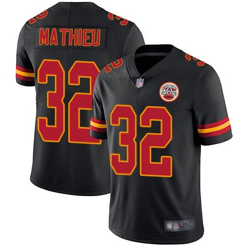 Nike Chiefs #32 Tyrann Mathieu Black Youth Stitched NFL Limited Rush Jersey