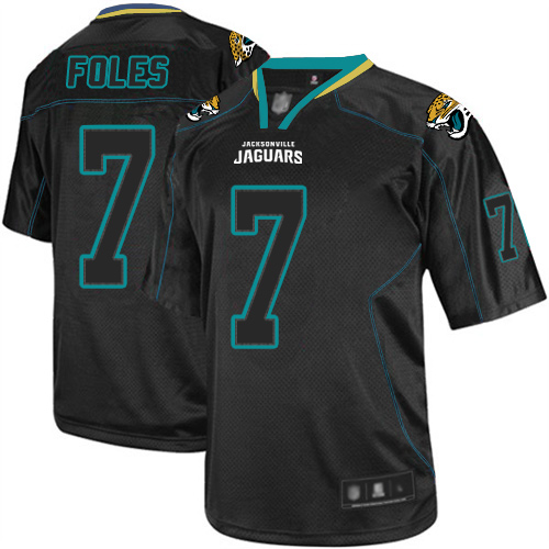 Nike Jaguars #7 Nick Foles Lights Out Black Youth Stitched NFL Elite Jersey