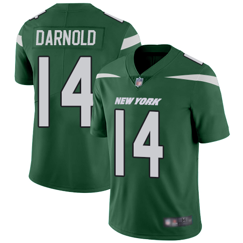 Nike Jets #14 Sam Darnold Green Team Color Youth Stitched NFL Vapor Untouchable Limited Jersey