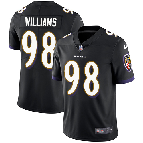 Nike Ravens #98 Brandon Williams Black Alternate Youth Stitched NFL Vapor Untouchable Limited Jersey