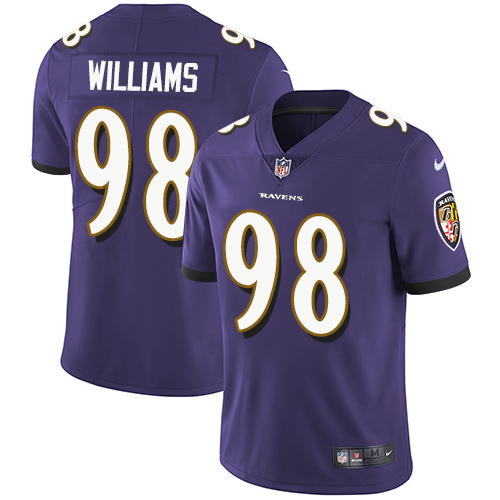 Nike Ravens #98 Brandon Williams Purple Team Color Youth Stitched NFL Vapor Untouchable Limited Jersey