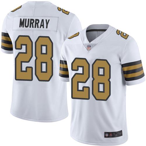 Nike Saints #28 Latavius Murray White Youth Stitched NFL Limited Rush Jersey
