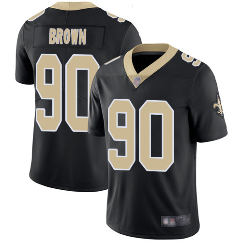 Nike Saints #90 Malcom Brown Black Team Color Youth Stitched NFL Vapor Untouchable Limited Jersey