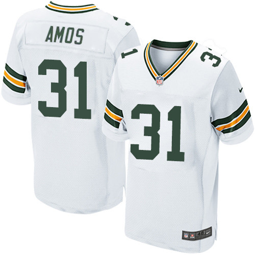 Nike Green Packers #31 Adrian Amos White Men's Stitched NFL Elite Jersey