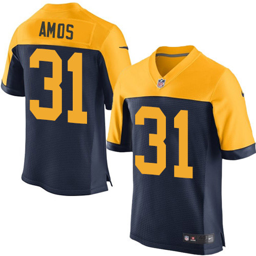 Nike Green Packers #31 Adrian Amos Navy Blue Alternate Men's Stitched NFL New Elite Jersey