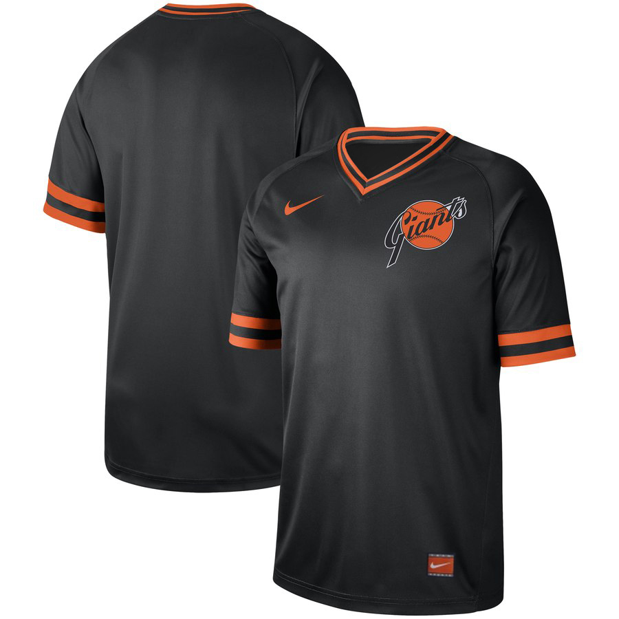 San Francisco Giants Nike Cooperstown Collection Legend V-Neck Jersey Black