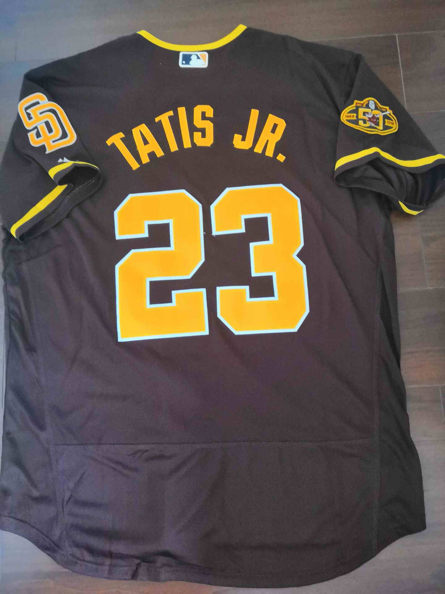 Men's San Diego Padres #23 Fernando Tatis Jr. Brown Flexbase Authentic Collection Stitched Baseball Jersey1
