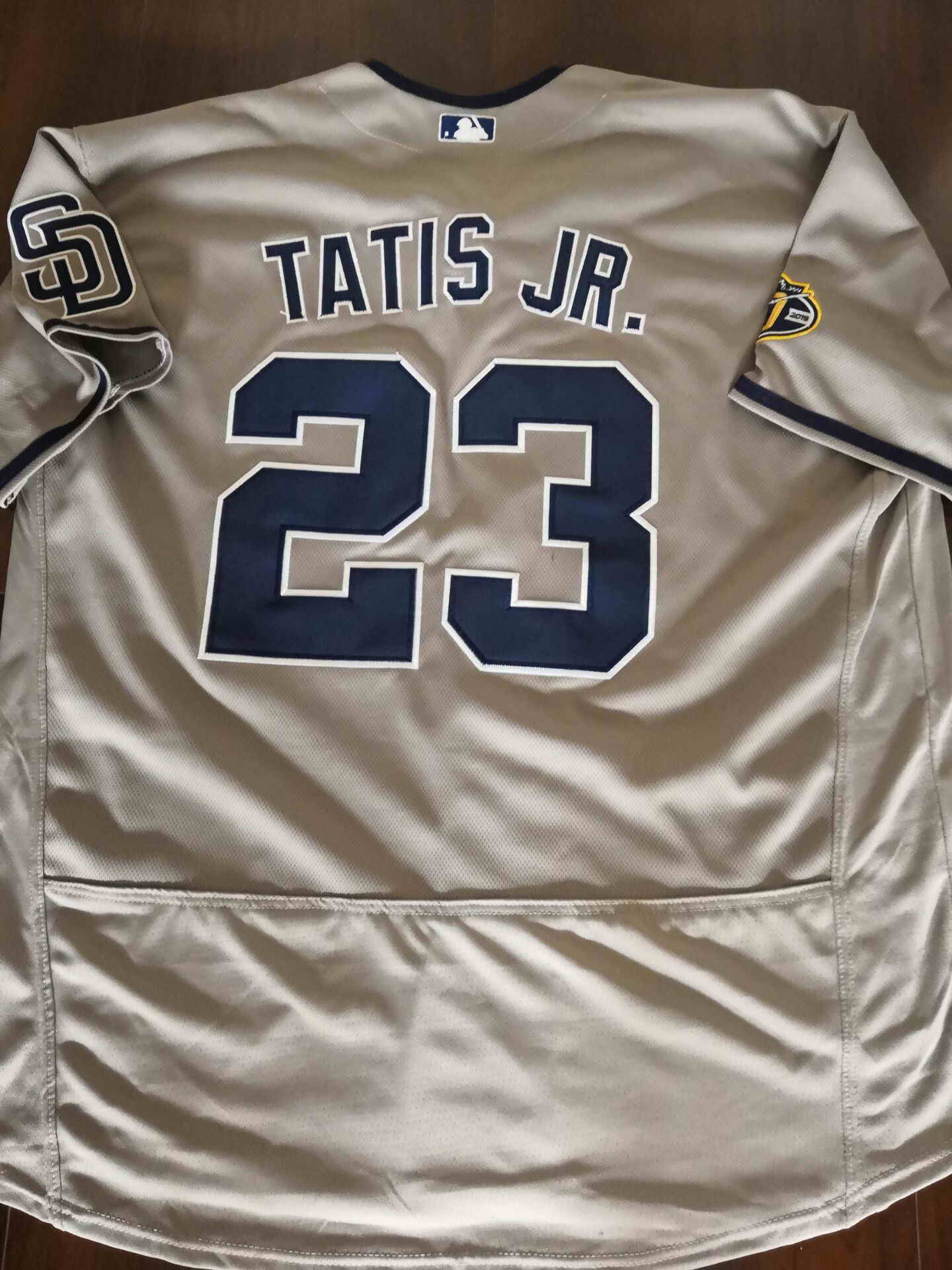 Men's San Diego Padres #23 Fernando Tatis Jr.Grey Flexbase Authentic Collection Stitched Baseball Jersey