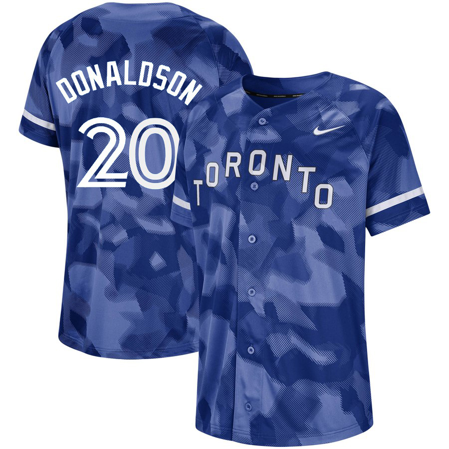 Blue Jays 20 Josh Donaldson Royal Camo Fashion Jersey