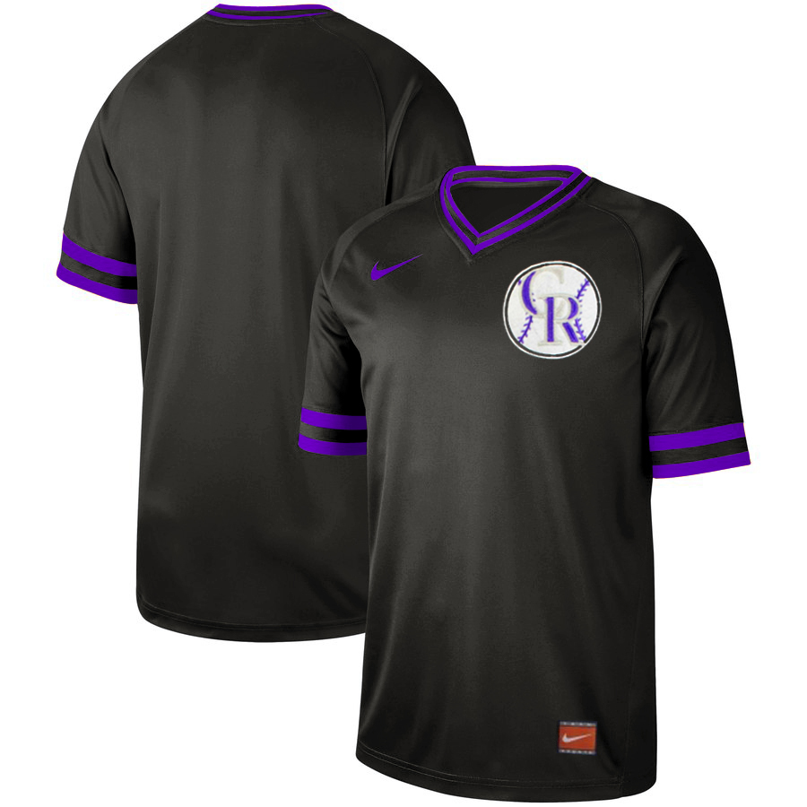 Rockies Blank Black Throwback Jersey