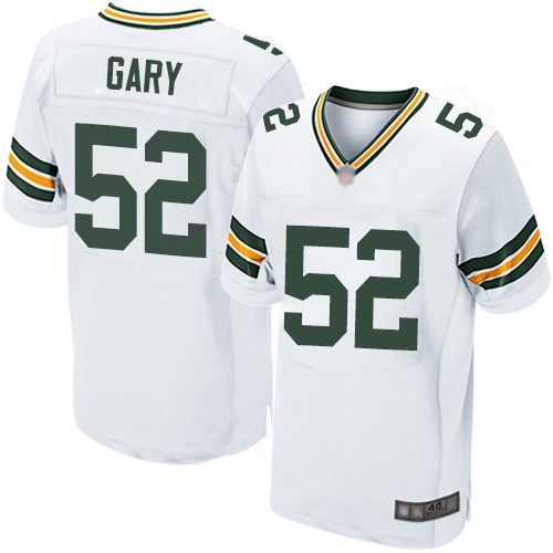 Packers #52 Rashan Gary White Men's Stitched Football Elite Jersey