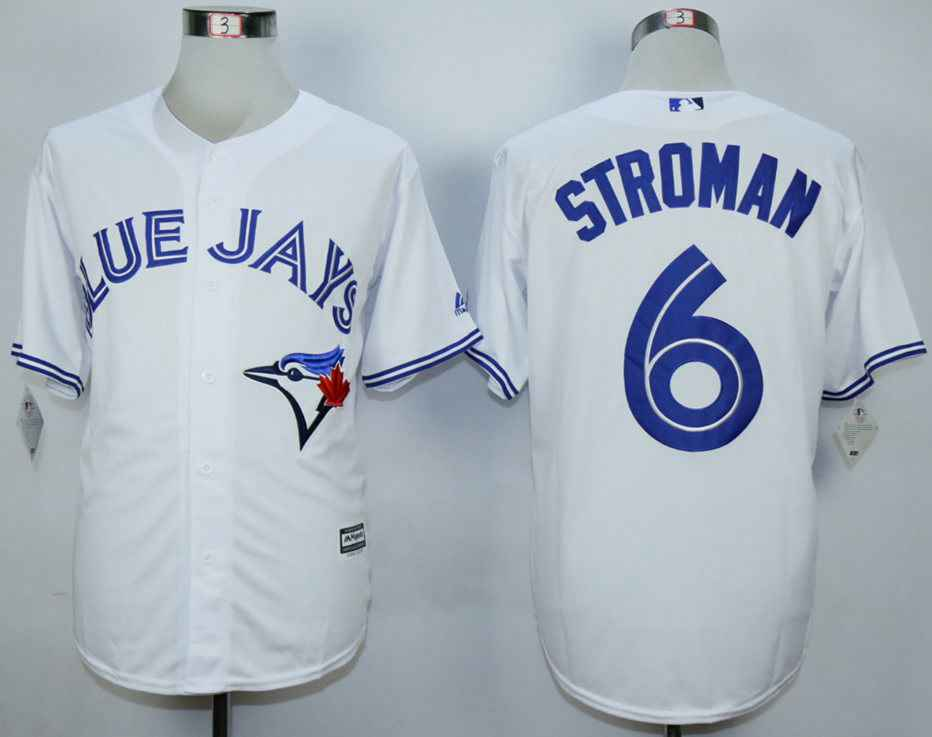 Men's Toronto Blue Jays #6 Marcus Stroman White New Cool Base Jersey