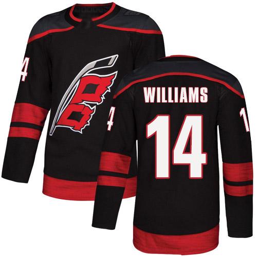 Hurricanes Men's #14 Justin Williams Black Alternate Authentic Jersey