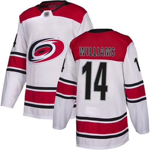 Hurricanes Men's #14 Justin Williams White Alternate Authentic Jersey