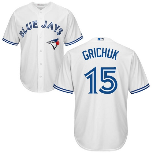 Men's Toronto Blue Jays #15 Randal Grichuk White New Cool Base Stitched Baseball Jersey