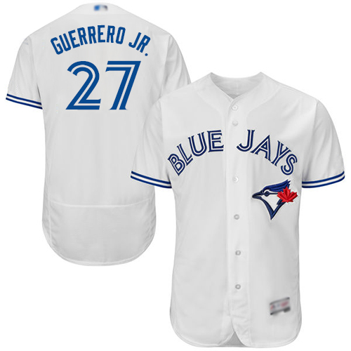 Men's Toronto Blue Jays #27 Vladimir Guerrero Jr. White Flexbase Authentic Collection Canada Day Stitched Baseball Jersey