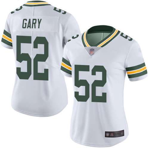 Packers #52 Rashan Gary White Women's Stitched Football Vapor Untouchable Limited Jersey