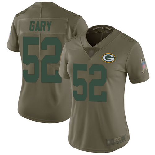 Packers #52 Rashan Gary Olive Women's Stitched Football Limited 2017 Salute to Service Jersey