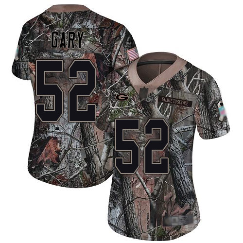 Packers #52 Rashan Gary Camo Women's Stitched Football Limited Rush Realtree Jersey