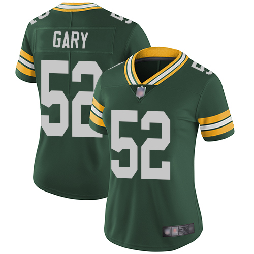 Packers #52 Rashan Gary Green Team Color Women's Stitched Football Vapor Untouchable Limited Jersey