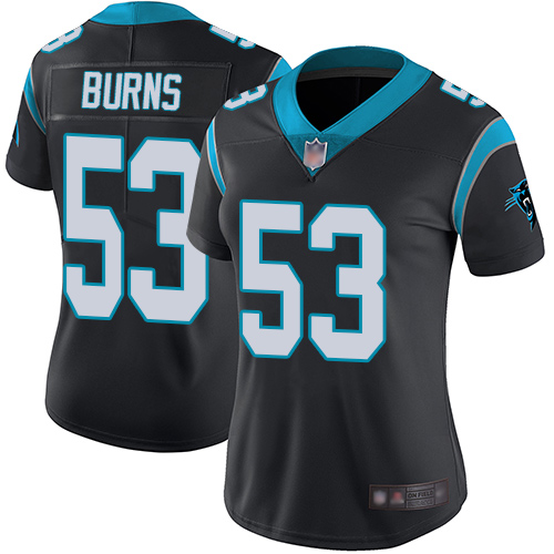 Panthers #53 Brian Burns Black Team Color Women's Stitched Football Vapor Untouchable Limited Jersey
