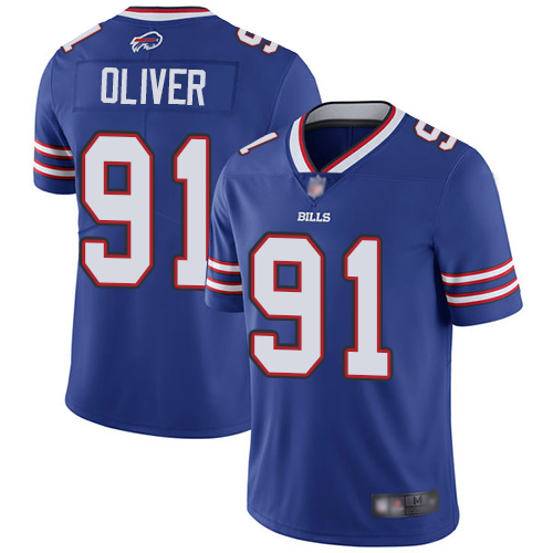 Bills #91 Ed Oliver Royal Blue Team Color Youth Stitched Football Vapor Untouchable Limited Jersey