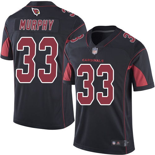Cardinals #33 Byron Murphy Black Youth Stitched Football Limited Rush Jersey