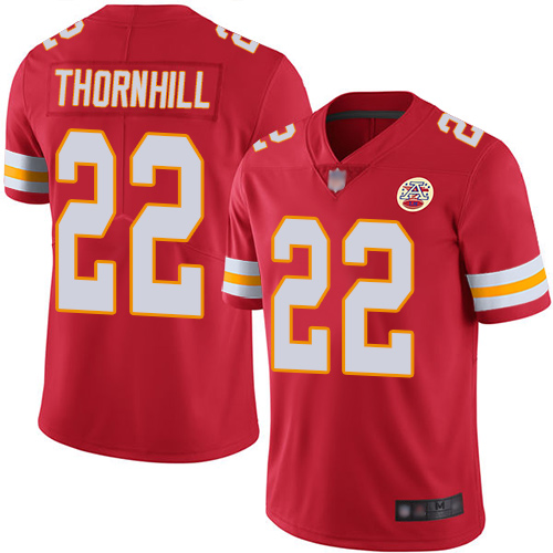 Chiefs #22 Juan Thornhill Red Team Color Youth Stitched Football Vapor Untouchable Limited Jersey