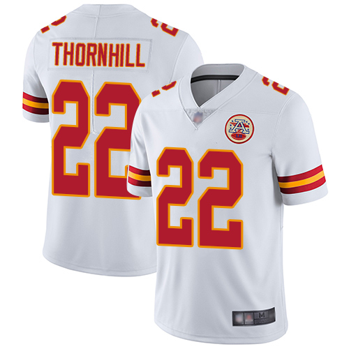 Chiefs #22 Juan Thornhill White Youth Stitched Football Vapor Untouchable Limited Jersey