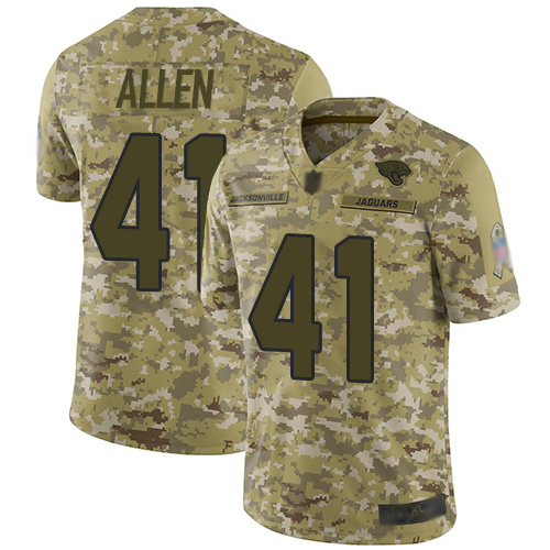 Jaguars #41 Josh Allen Camo Youth Stitched Football Limited 2018 Salute to Service Jersey