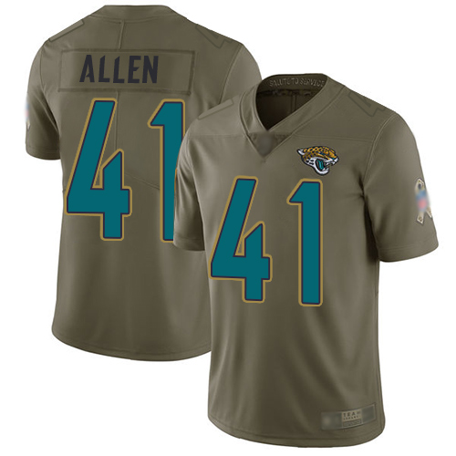Jaguars #41 Josh Allen Olive Youth Stitched Football Limited 2017 Salute to Service Jersey