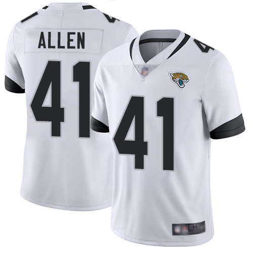 Jaguars #41 Josh Allen White Youth Stitched Football Vapor Untouchable Limited Jersey