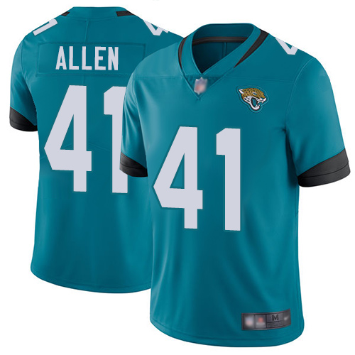 Jaguars #41 Josh Allen Teal Green Alternate Youth Stitched Football Vapor Untouchable Limited Jersey