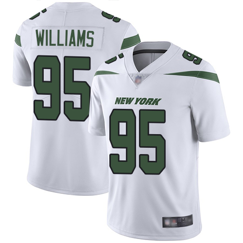 Jets #95 Quinnen Williams White Youth Stitched Football Vapor Untouchable Limited Jersey