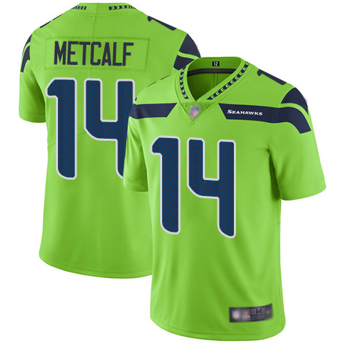 Seahawks #14 D.K. Metcalf Green Youth Stitched Football Limited Rush Jersey