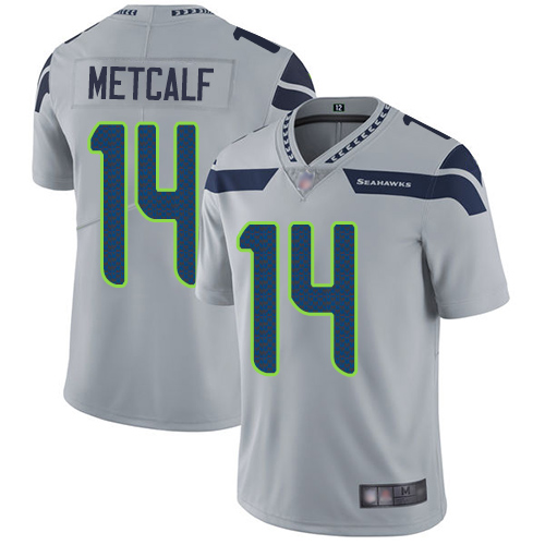 Seahawks #14 D.K. Metcalf Grey Alternate Youth Stitched Football Vapor Untouchable Limited Jersey