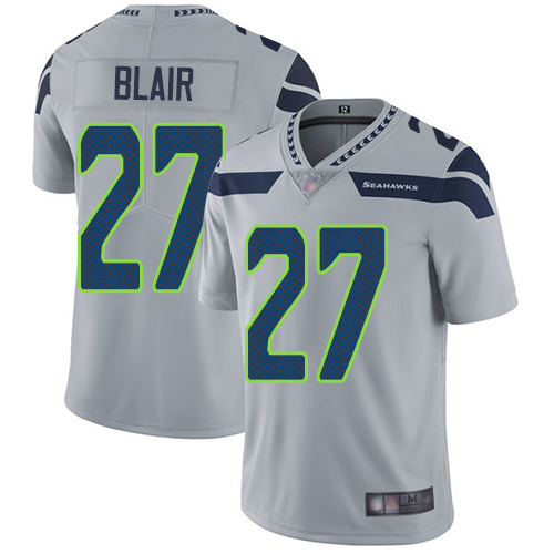 Seahawks #27 Marquise Blair Grey Alternate Youth Stitched Football Vapor Untouchable Limited Jersey