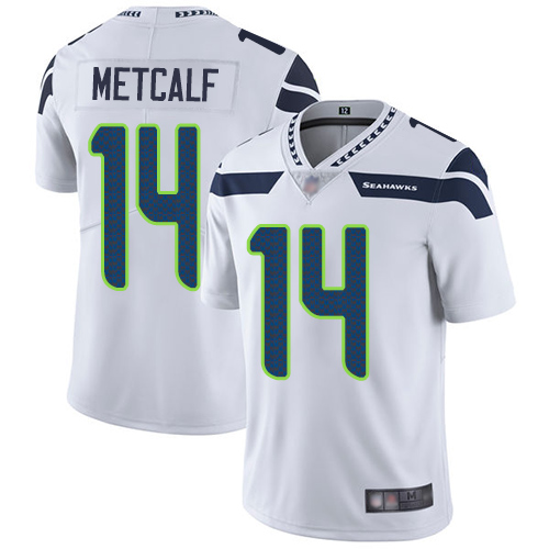 Seahawks #14 D.K. Metcalf White Youth Stitched Football Vapor Untouchable Limited Jersey