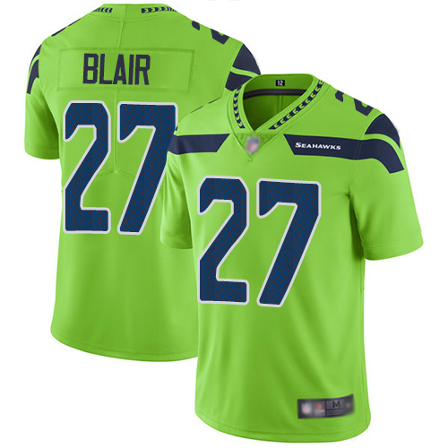 Seahawks #27 Marquise Blair Green Youth Stitched Football Limited Rush Jersey