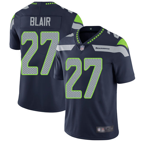 Seahawks #27 Marquise Blair Steel Blue Team Color Youth Stitched Football Vapor Untouchable Limited Jersey