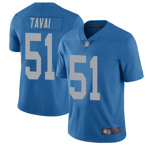 Lions #51 Jahlani Tavai Blue Throwback Youth Stitched Football Vapor Untouchable Limited Jersey