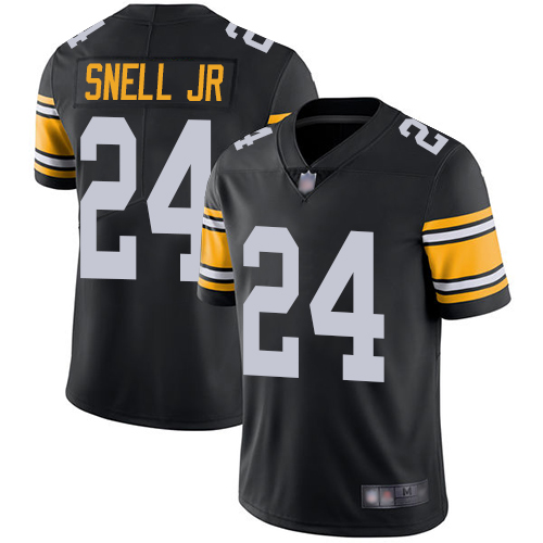 Steelers #24 Benny Snell Jr. Black Alternate Youth Stitched Football Vapor Untouchable Limited Jersey