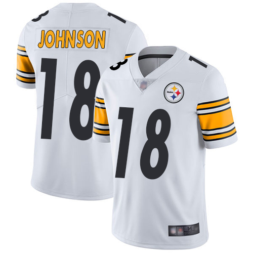 Steelers #18 Diontae Johnson White Youth Stitched Football Vapor Untouchable Limited Jersey