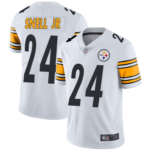 Steelers #24 Benny Snell Jr. White Youth Stitched Football Vapor Untouchable Limited Jersey