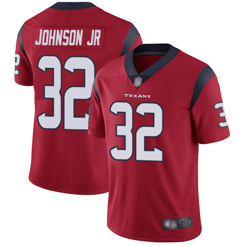 Texans #32 Lonnie Johnson Jr. Red Alternate Youth Stitched Football Vapor Untouchable Limited Jersey