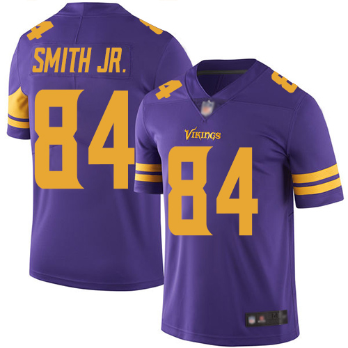 Vikings #84 Irv Smith Jr. Purple Youth Stitched Football Limited Rush Jersey